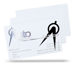 white plastic business card prices